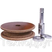WorkMan 708028. Профилированный кожаный круг для полировальных станков, фото 3