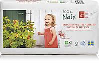 Органические подгузники Eco by Naty Размер 4+ (от 9 до 20 кг) 42 шт