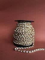 Ланцюжок декоративний антік з перлинами 8мм