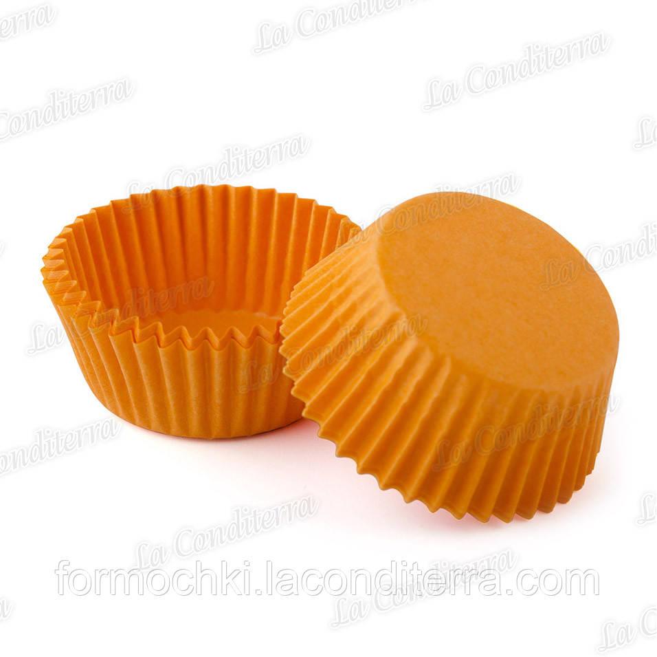 Оранжевые бумажные формочки для кексов 5-Тубус (Ø40 мм, 200 шт.)