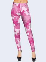 Леггинсы женские Розовый камуфляж
