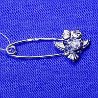 Серебряная брошь-булавка Сова 7-80013