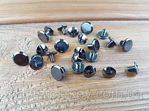 Винт ременной 10*8мм цвет Темный никель