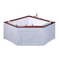 Гидромассажная ванна Iris TLP-667, угловая, 150 х 150 х 70 см, с деревянной накладкой, фото 1