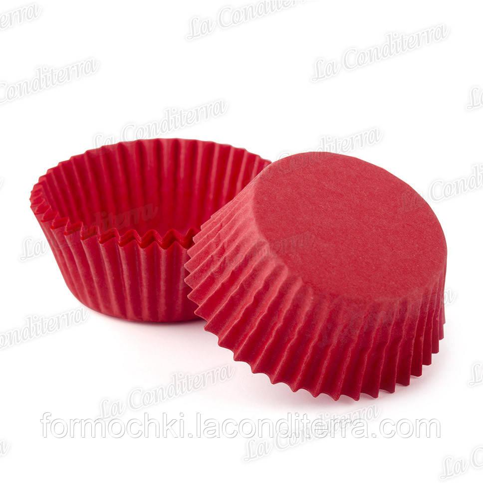 Червоні паперові формочки для кексів 5-Тубус (Ø40 мм, 200 шт.)
