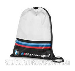 Спортивная сумка-мешок BMW M Motorsport Sports Bag, White/Black (80282461128)