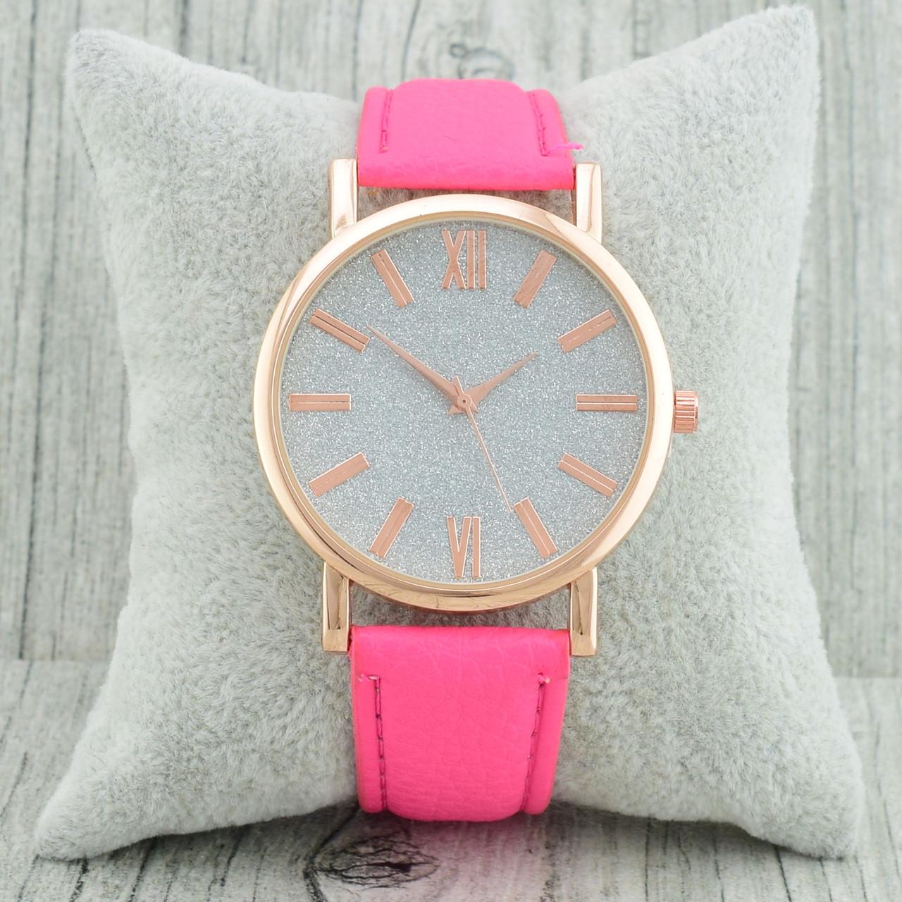 Часы G-008 диаметр циферблата 3.8 см, длина ремешка 17-21 см, цвет фуксия, позолота РО
