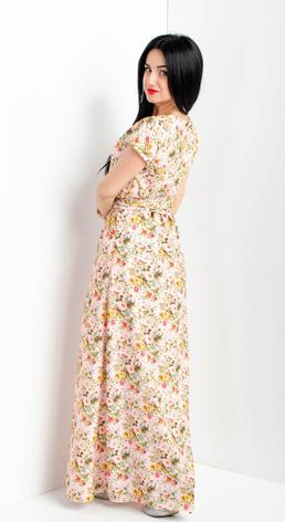 Летнее длинное платье размеры 56-58, 58-60, фото 2