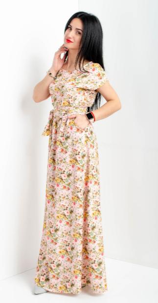Летнее длинное платье размеры 56-58, 58-60