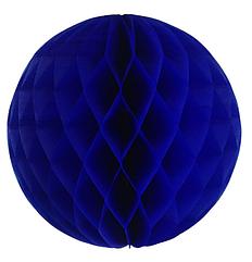 """Бумажные шары """"соты"""" 20 см синий"""