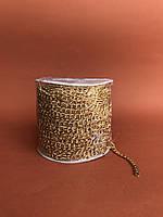 Ланцюжок декоративний антік золотий 6мм