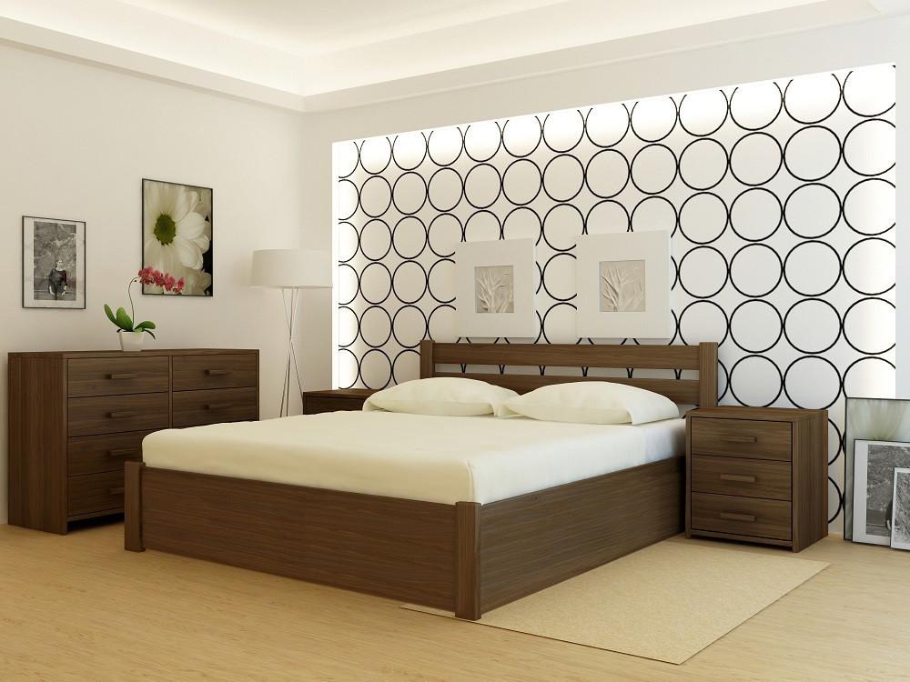 Кровать деревянная YASON Frankfurt PLUS с подъемным механизмом Серый (Массив Ольхи либо Ясеня)