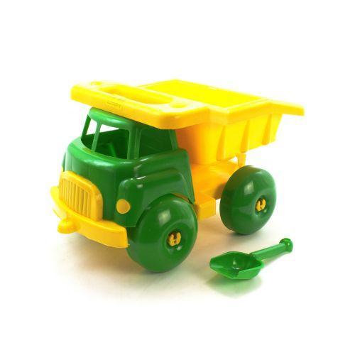 """Машина """"Макрудер"""" с лопаткой (зелёно-жёлтая) МГ 124"""