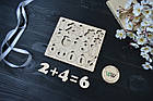 Сортер из дерева, мозаика, цифры. Учимся считать. , фото 2