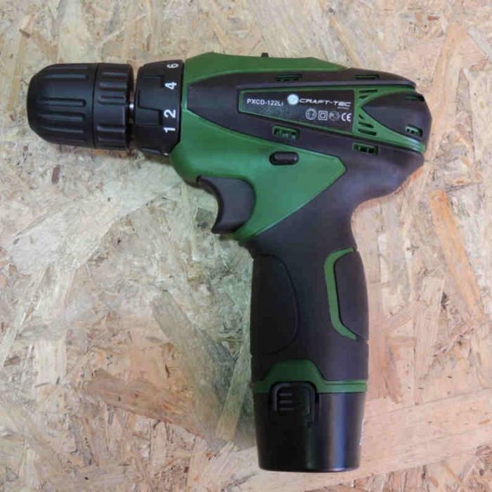 Шуруповерт акумуляторний Craft-tec PXCD-122Li 1 акумулятор в комплекті. Крафт-Тек