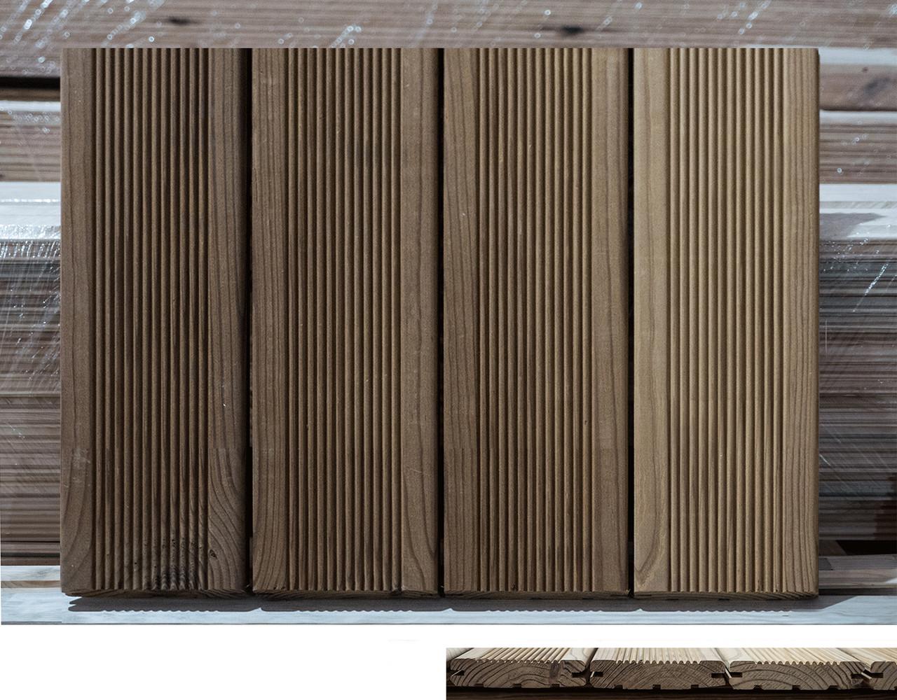 Террасная доска из термообработанной древесины.