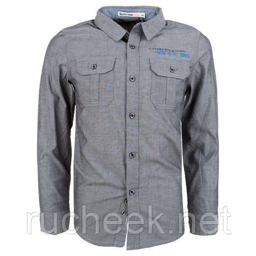 Рубашка с длинным рукавом на мальчика р - ры  98 - 110, Glo-story BCS-9723