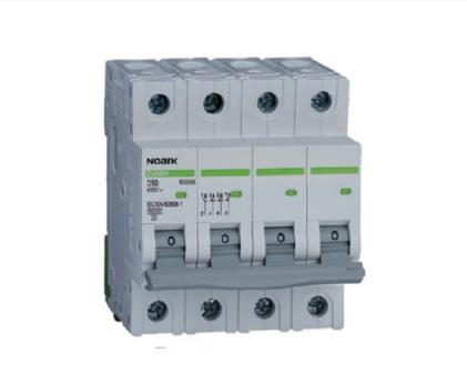 Автоматический выключатель Noark 6кА х-ка C 2А 3PN Ex9BN 100151, фото 2