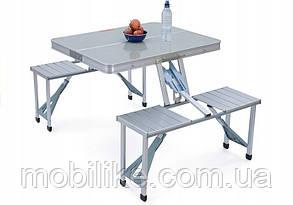 Алюминиевый стол для пикника раскладной со 4 стульями