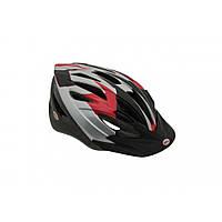 Велошлем Bell Presedio серебристый/красный Sprawl, Uni (54-61) (GT)