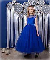 Пышное платье с бусинами в пол 6-12 лет