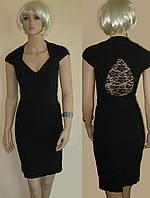 """Платье в стиле """"Little black dress"""" с гипюровой каплей на спине"""