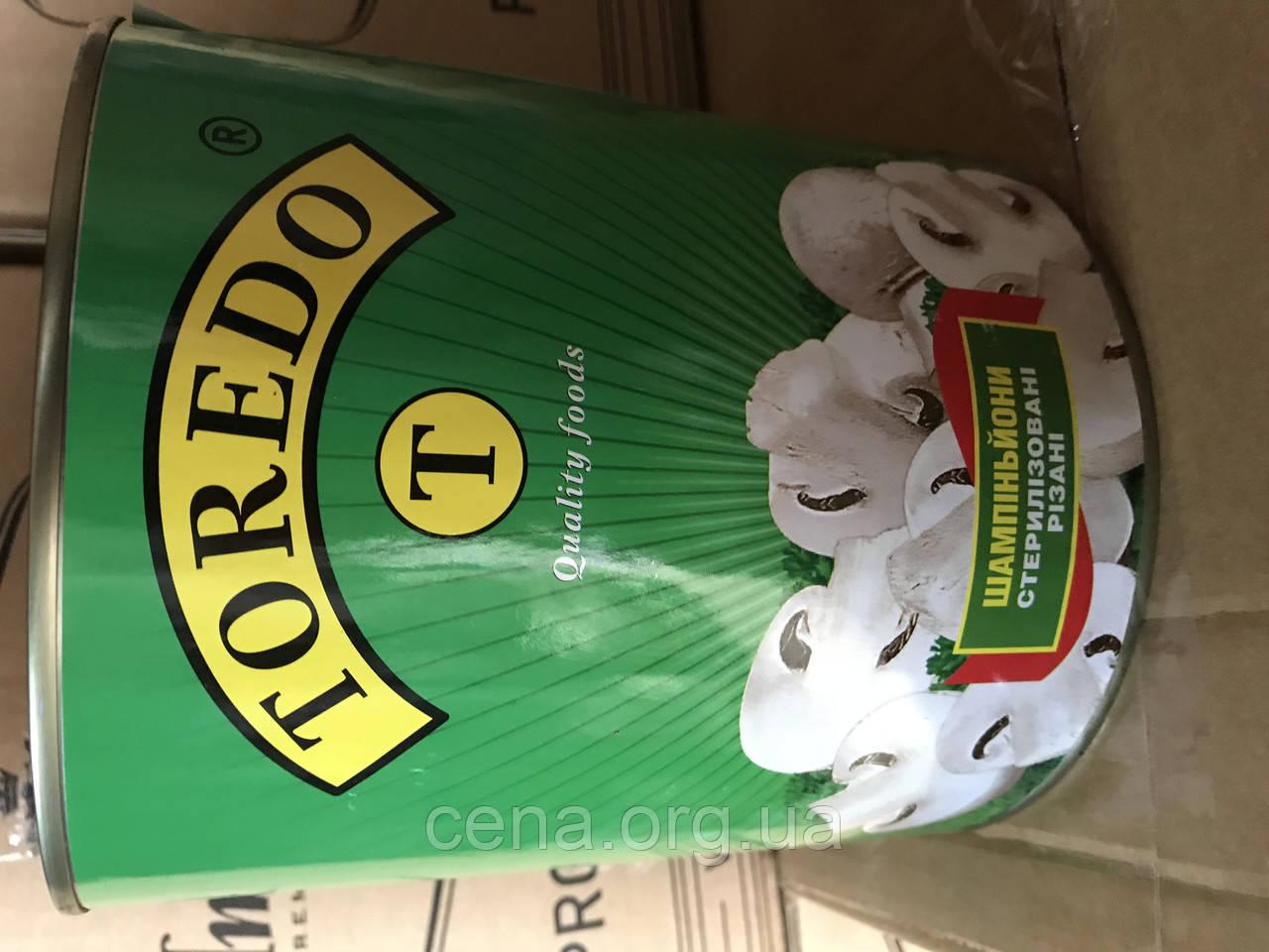 Грибы Шампиньоны Торедо (Toredo) резанные 3100мл: продажа ...