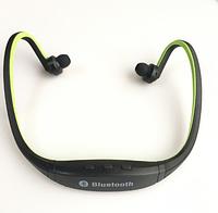 Беспроводные спортивные Bluetooth наушники гарнитура Зеленый