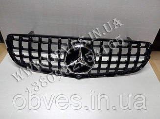 Решітка радіатора Mercedes GLC X253 стиль Panamericana GT (All Black)