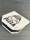 Коробка для пиццы c рисунком Cook 300Х300Х30 мм (Чёрная печать), фото 2