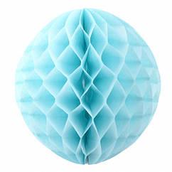 """Бумажные шары """"Соты"""" 25 см голубой"""