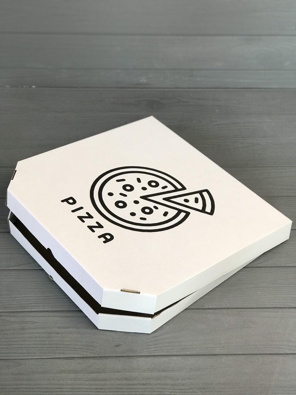 Коробка для пиццы с рисунком Pizza 250х250х30 мм (Чёрная печать)