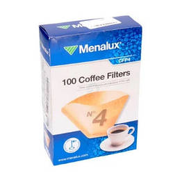 Фильтр бумажный №4 Menalux CFP4 (100шт) для капельных кофеварок 900256314