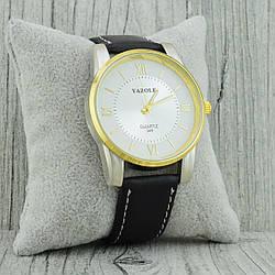 Часы G-148, диаметр циферблата 4.0 см, длина ремешка 18-22 см, чёрный цвет, позолота 18К