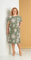 Платье Novella Sharm-3242 белорусский трикотаж, зеленый, 58