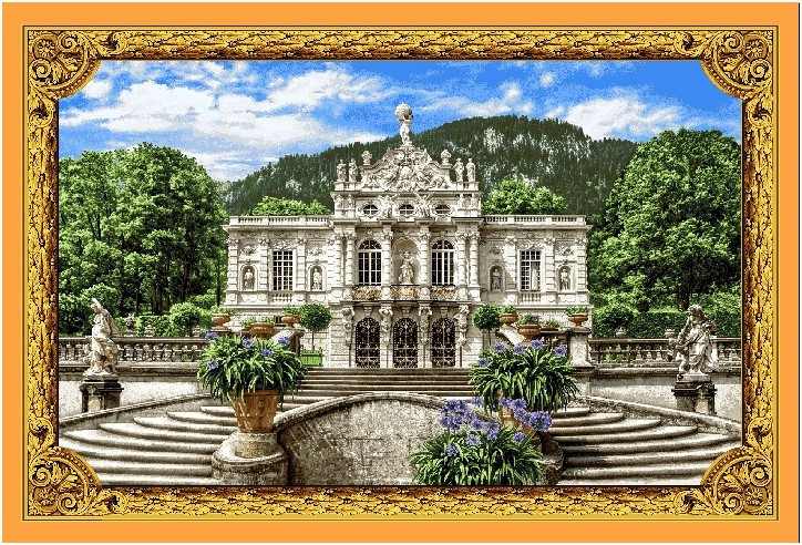 "Картины из гобелена "" Белый замок Линдерхоф """