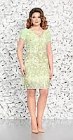 Платье Mira Fashion-4611-2 белорусский трикотаж, салатовый, 46
