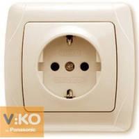 Розетка одинарная  с заземлением крем ViKO Carmen 90562008
