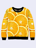 Свитшот женский теплый Апельсин 3D Свитшоты