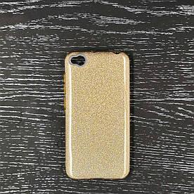 Чехол накладка для Xiaomi Redmi Go силиконовый 3-в-1, Remax Case Glitter, золотистый