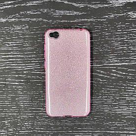 Чехол накладка для Xiaomi Redmi Go силиконовый 3-в-1, Remax Case Glitter, розовый