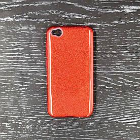 Чехол накладка для Xiaomi Redmi Go силиконовый 3-в-1, Remax Case Glitter, красный