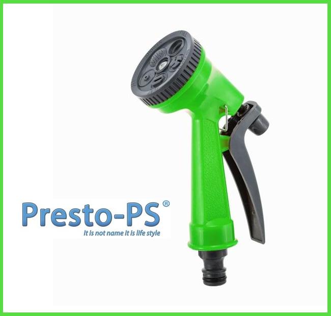 Пистолет поливочный 5 режимов пластик green (7209G)