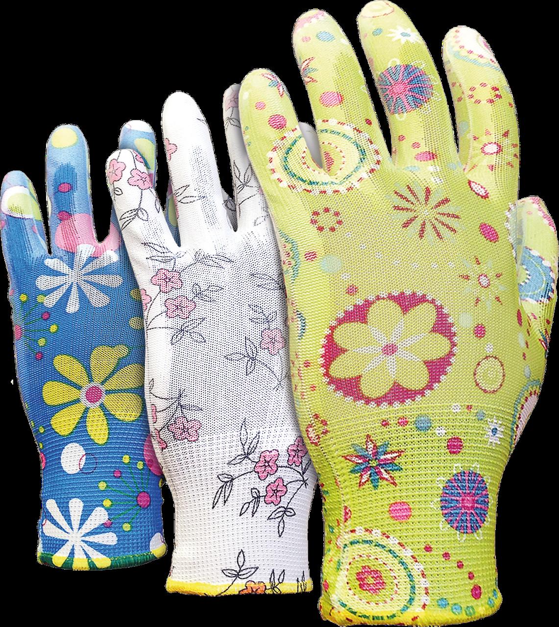Перчатки RGARDEN-PU MIX защитные, изготовленные из полиэстра, покрытые полиуретаном  Reis Польша