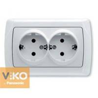 Розетка 2-ая с заземлением ViKO Carmen 90561056