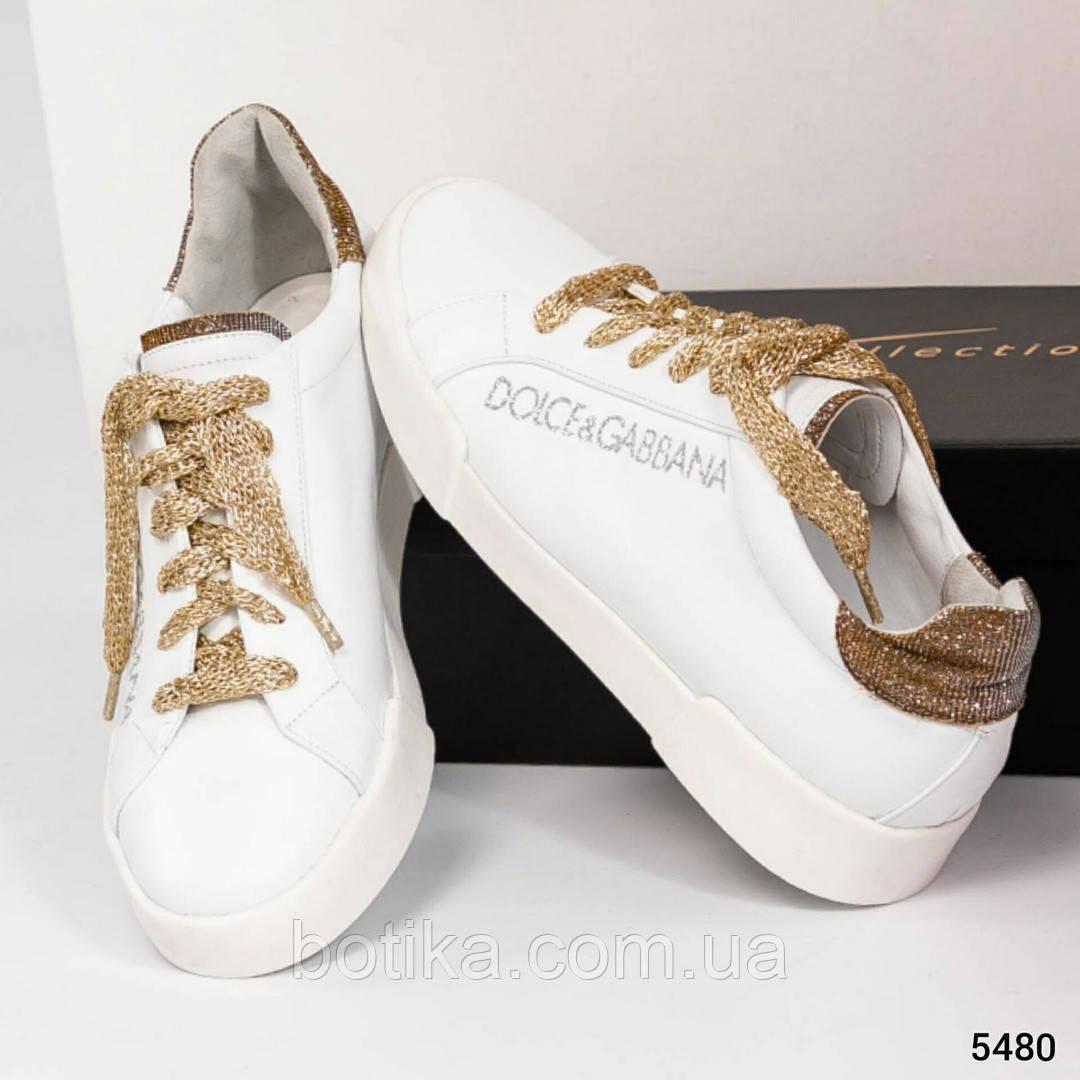 36 39 40! Нереально классные белые кожаные женские кеды Dolce&Gabbana