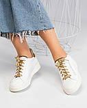 36 39 40! Нереально классные белые кожаные женские кеды Dolce&Gabbana, фото 5