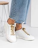 36 39 40! Нереально классные белые кожаные женские кеды Dolce&Gabbana, фото 2