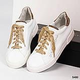 36 39 40! Нереально классные белые кожаные женские кеды Dolce&Gabbana, фото 6