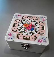 Шкатулка для украшений квадратная 12*12*6 см, фото 1